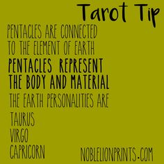 Pentacles also connect to money/finances, job/career, stability and security.
