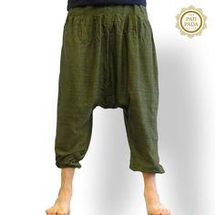 Aladdin broek / Harem Yoga Broek groen – Nepal