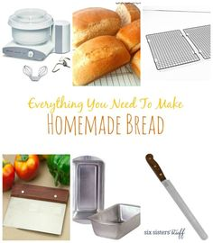 Everything You Need to Make Homemade Bread! Perfect for the holiday season!
