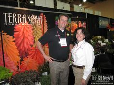 Dave Doolittle, poses with Today's Garden Center magazine Editor, Carol Miller, during her interview with him.