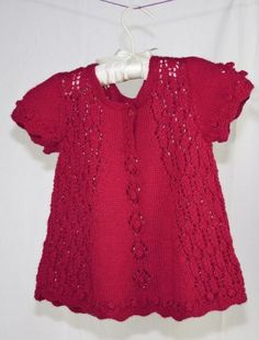 little-lace-top-knit-pattern Cascade free pattern 9 months. Changes for sizes 12 mo., 18mo., 2 yr. , and 3-4 yr.