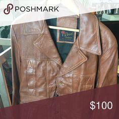Vintage leather coat 1960-70 era men's leather jacket. No rips or tears. Jackets & Coats