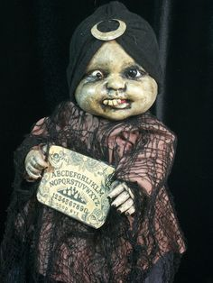 Creepy Prop Doll Haunted Horror Gypsy OOAK Altered Art Doll Gothic Dead Monster Freak Zombie Halloween Scary Odd Weird By L.Cerrito on Wanelo