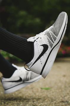 #sneakers  Nike Flyknit Trainer - White/Black
