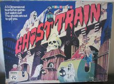 Rare Vintage Toltoys Ghost Train Board Game - Denys Fisher