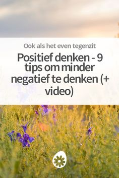 Positief denken – 9 tips om minder negatief te denken (+ video) Self Development, Life Is Beautiful, Happy Life, No Time For Me, Life Lessons, Positive Quotes, Videos, Psychology, Coaching