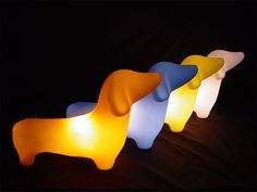 I will HAVE to get one of these for a little guardian in baby's room.  Too cute! OFFI - MyPetLamp - Dachshund