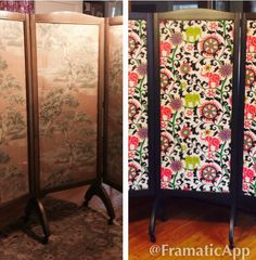 BEFORE/AFTER: Antique Dressing Screen
