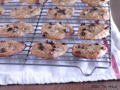 "Coconut Flour Chocolate Chip Banana Cookies--""Would you like a coconut flour cookie that doesn't take like a coconut flour cookie? Try these chocolate chip banana cookies from Ditch The Wheat. Banana serves as a replacement for extra eggs. Cookies Gluten Free, Paleo Cookies, Gluten Free Treats, Gluten Free Desserts, Coconut Flour Cookies, Baking With Coconut Flour, Coconut Flour Recipes, Coconut Oil, No Flour Cookies"