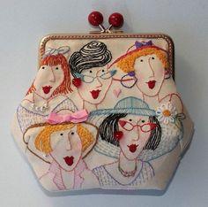 Nice wallet for lovely ladies - leuke portemonnee voor de stoffenmarkt
