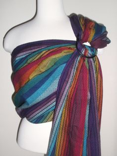 @Zanytoes Boutique #wrapconversion #ringsling Girasol rainbow #WCRS