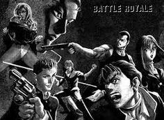 My favourite manga Battle Royale Manga, Black Jokes, Reality Tv Shows, Geek Humor, Panel Art, Manga To Read, Favorite Person, Free Games, Anime Love