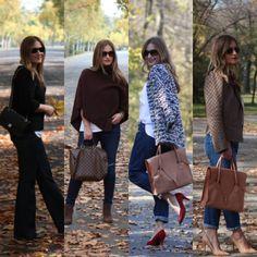 My Latest Looks #looks #streetstyle #street #style #fallfashion #fashion #leatherjacket #allsaints #nanushka #boyfriendjeans #flarejeans #skinnyjeans #heels #redheels #fashionblogger #fashionista #blogger #outfits #pullover #cardigan #poncho #cape