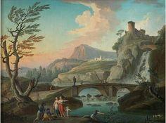 marine tableau peinture huile sur toile panneau peintre artiste rome italie port | Authenticité