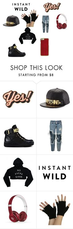 """""""Hip-Hop Concert Outfit"""" by lbk363 ❤ liked on Polyvore featuring Anya Hindmarch, Moschino, One Teaspoon and Beats by Dr. Dre"""
