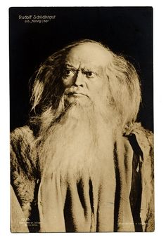 Theater personality Rudolf Schildkraut as King Lear.