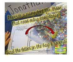 """Get STOMPIN'...with letter fun!  Use paper scraps to create an """"I Spy"""" bag.  Put magnetic letters and scraps in a plastic bag and you have an instant center.  Tons of great ideas on this blog!!"""