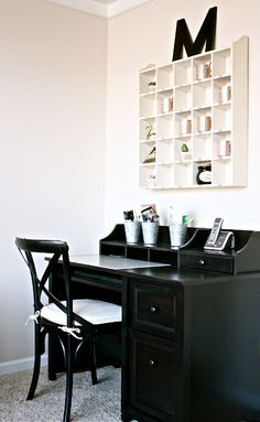 The Yellow Cape Cod: Room Makeovers. SImple Office set up