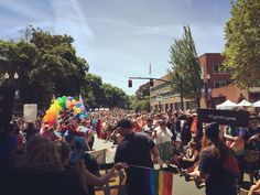 I honestly could not feel more moved than I do right now.  Thank you, entire city of Portland, for showing us how much you care.  I love this magical place!  #LoveWins