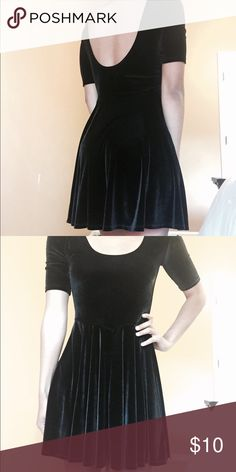 Black dress Velvet black dress from urban outfitters Urban Outfitters Dresses Mini