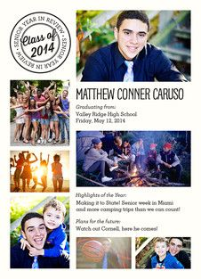 Year in Review Graduation Announcement
