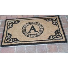 First Impression Geneva Monogrammed Entryway Outdoor doormat - PT3006
