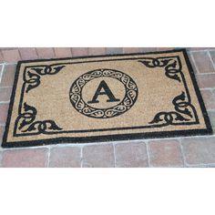 First Impression Geneva Monogrammed Entryway Outdoor doormat   from hayneedle.com