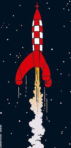 Tintin - On a marché sur la lune