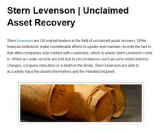 Stern Levenson blog snippet 1 Financial Institutions, Articles, Facts, Blog, How To Make, Blogging