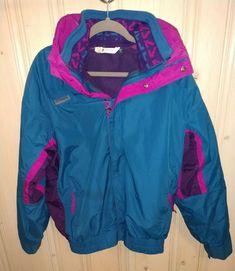 c5e40dfc58a Vintage 90s Columbia Mens L Bugaboo Parka 3 In 1 Winter Jacket Ski Blue    Purple
