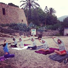 #Yoga Class in the beach #mangobloggers #Ibiza @stylescrapbook  @chiaraferragni  @galagonzalez  @sincerely_juless  @songofstyle - taken by @mangofashion - via http://instagramm.in