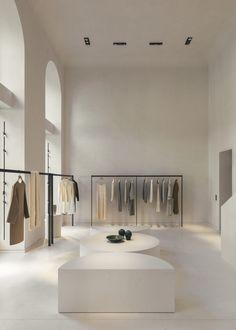 Boutique Interior, Clothing Store Interior, Clothing Store Design, Showroom Interior Design, Boutique Design, Interior Architecture, Fashion Retail Interior, Fashion Showroom, Showroom Ideas