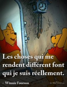 Acceptez vos différences The things that make me different make me who I really am. - Winnie the Pooh Citations Disney, Citations Film, Meant To Be Quotes, Change Quotes, Happy Quotes, Funny Quotes, Happiness Quotes, Cute Insta Captions, Winnie The Pooh
