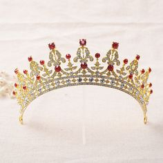 Cheap tiara bridal, Buy Quality tiara clothes directly from China rhinestone dog Suppliers: Shineling Jewelry Stunning Classic Red and Green Crystal Rhinestones Gold Wedding Tiara Bridal Crown Pincess Headpiece