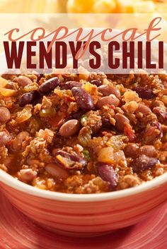 This Copycat Wendy's Chili recipe is perfect for any Wendy's #chili lover. A great dish to curl up by the fire for dinner.