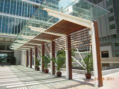 Covered walkway at Hong Kong science park