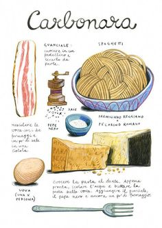 20 Trendy Ideas For Pasta Italianas Desenho Recipe Drawing, Food Sketch, Food Journal, Recipe Journal, Food Drawing, How To Cook Quinoa, Food Illustrations, Illustration Art, Kitchen Art