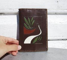 Leather Wallet with Dove of Peace Vintage Embossed Soviet era 1980 Estonian Wallet Hand Tooled Gift by MerilinsRetro on Etsy https://www.etsy.com/listing/243537093/leather-wallet-with-dove-of-peace