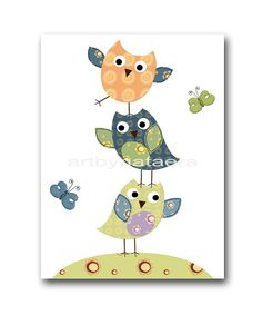 Baby Nursery Decor Art for Children Kids Wall Art by artbynataera, $14.00