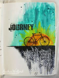 Life Is A Journey - for a video tutorial and supply list visit: http://andreawalford.com/art-journal-express-2-video-tutorial-life-is-a-journey-art-journal-page