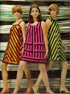 Os incríveis anos 60, roupas fabulosas.
