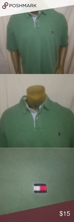 """Tommy Hilfiger Men's Polo Shirt Size XXL Mint Gree Brand:Tommy Hilfiger Condition:Great Used Condition  Category:Polo / Golf Shirts  Color:Green Size Type:Regular Size:2X Large (XXL) Style:Short Sleeve Polo   Measurements:  Armpit to Armpit:27"""" Shoulder to Seam:33""""  Photos of actual item to be shipped. Tommy Hilfiger Shirts Polos"""