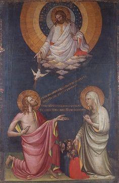 Lorenzo Monaco, (1370-1425): Jesús y María intercediento ante Dios, 1400.