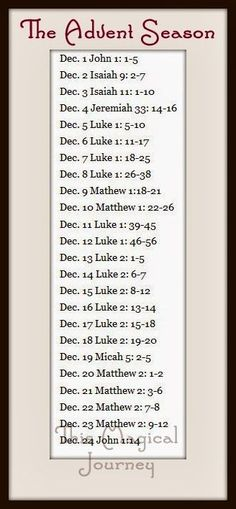Christmas countdown biblical style