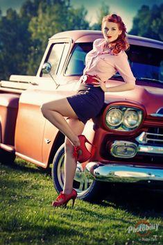 Pin Up Girls and Cars by Bostjan Tacol  #pinup #pin up