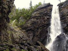 Waterfall. Brudesløret, Nord-Trøndelag, Norway