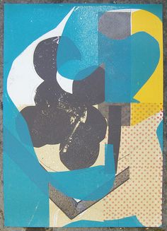 Damien Tran Graphic Poster: layering up combinations/ graphic elements