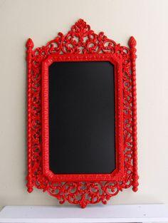 Red Chalkboard Magnetic Chalkboard Kitchen Antique por ShugabeeLane