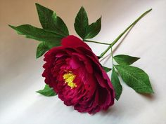Peony - Crepe paper flower - Paper Flowers -Peony Paper Single Stem - Event Decorations - Home Decor - Handmade Paper Flower Art, Crepe Paper Flowers, Paper Peonies, Event Decor, Peony, Shapes, Decorations, Handmade, Hand Made