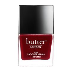 The 10 Prettiest Winter Nail Polishes: Butter London in Ruby Murray #InStyle